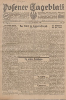 Posener Tageblatt. Jg.67, Nr. 118 (24 Mai 1928) + dod.