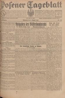 Posener Tageblatt. Jg.67, Nr. 180 (8 August 1928) + dod.