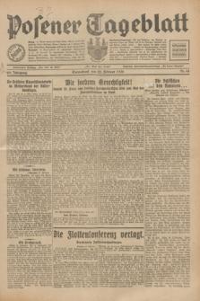 Posener Tageblatt. Jg.69, Nr. 44 (22 Februar 1930) + dod.