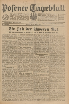 Posener Tageblatt. Jg.69, Nr. 58 (11 März 1930) + dod.