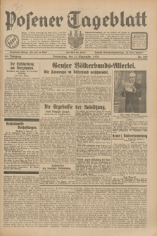 Posener Tageblatt. Jg.69, Nr. 209 (11 September 1930) + dod.