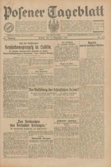 Posener Tageblatt. Jg.69, Nr. 216 (19 September 1930) + dod.