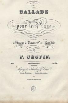 Ballade : pour le piano : Op. 52