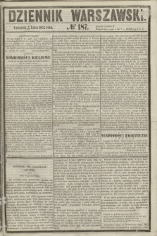 Dziennik Warszawski. 1855, № 187 (19 lipca)