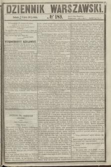Dziennik Warszawski. 1855, № 189 (21 lipca)