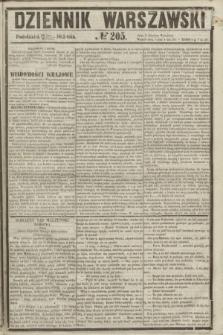 Dziennik Warszawski. 1855, № 205 (6 sierpnia)
