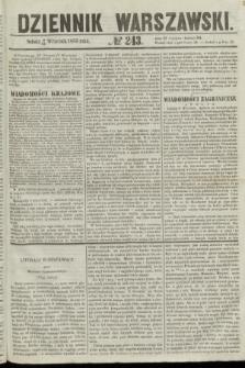 Dziennik Warszawski. 1855, № 243 (15 września)