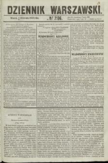 Dziennik Warszawski. 1855, № 246 (18 września)