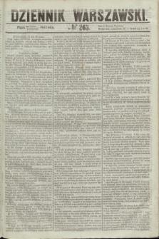 Dziennik Warszawski. 1855, № 263 (5 października)