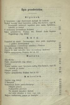 Światło Zagrobowe : dziennik spirytystyczny. R.2, Spis przedmiotów (1870)