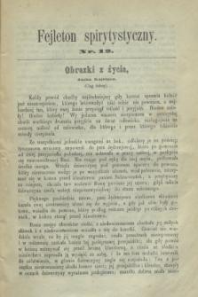 Fejleton Spirytystyczny. R.2, nr 12 (1870)