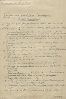 Autografy Heinricha Kleista i inne materiały z nim związane