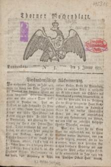 Thorner Wochenblatt. 1822, Nro. 1 (3 Januar)