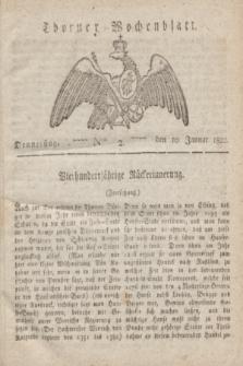 Thorner Wochenblatt. 1822, Nro. 2 (10 Januar)