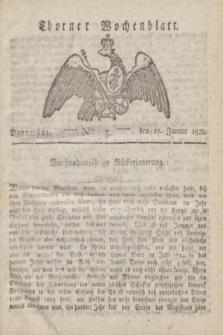 Thorner Wochenblatt. 1822, Nro. 3 (17 Januar)