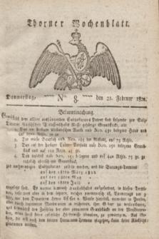 Thorner Wochenblatt. 1822, Nro. 8 (21 Februar)