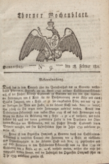 Thorner Wochenblatt. 1822, Nro. 9 (28 Februar)