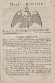 Thorner Wochenblatt. 1822, Nro. 13 (28 März)