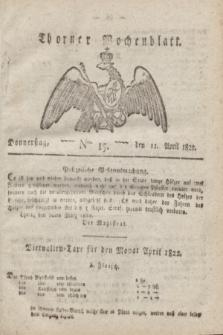 Thorner Wochenblatt. 1822, Nro. 15 (11 April)