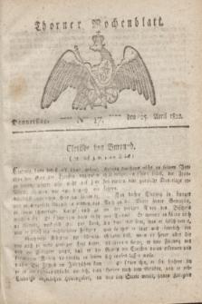 Thorner Wochenblatt. 1822, Nro. 17 (25 April)