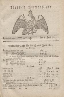 Thorner Wochenblatt. 1822, Nro. 23 (6 Juni)