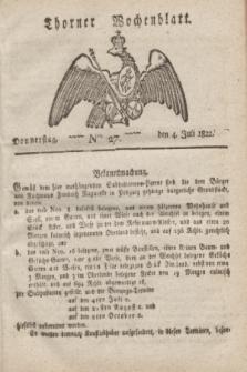 Thorner Wochenblatt. 1822, Nro. 27 (4 Juli)