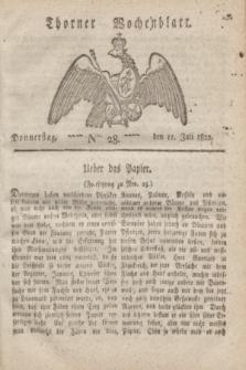 Thorner Wochenblatt. 1822, Nro. 28 (11 Juli)