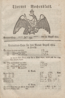 Thorner Wochenblatt. 1822, Nro. 32 (8 August)