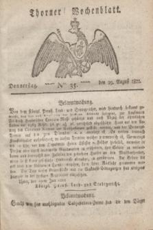 Thorner Wochenblatt. 1822, Nro. 35 (29 August)