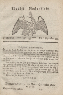 Thorner Wochenblatt. 1822, Nro. 36 (5 September)