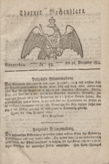 Thorner Wochenblatt. 1822, Nro. 52 (26 December)