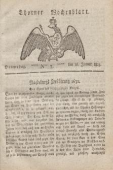 Thorner Wochenblatt. 1823, Nro. 3 (16 Januar)