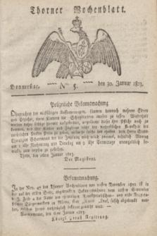 Thorner Wochenblatt. 1823, Nro. 5 (30 Januar)
