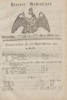 Thorner Wochenblatt. 1823, Nro. 7 (13 Februar)