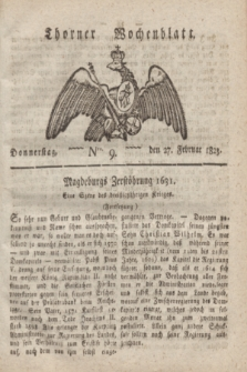 Thorner Wochenblatt. 1823, Nro. 9 (27 Februar)
