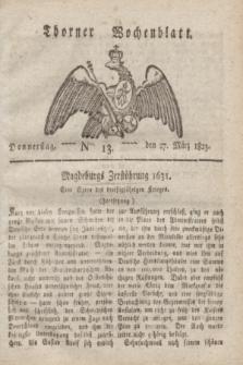 Thorner Wochenblatt. 1823, Nro. 13 (27 März)