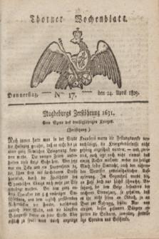 Thorner Wochenblatt. 1823, Nro. 17 (24 April)