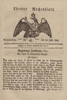 Thorner Wochenblatt. 1823, Nro. 26 (26 Juni)
