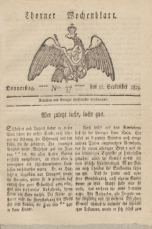 Thorner Wochenblatt. 1823, Nro. 37 (11 September)