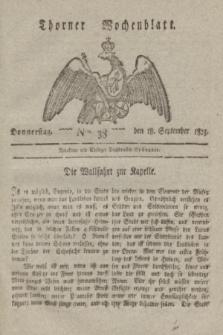 Thorner Wochenblatt. 1823, Nro. 38 (18 September)