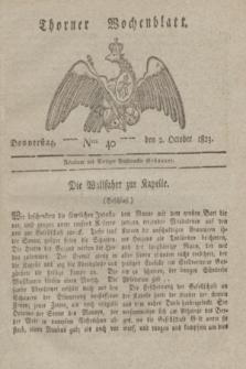 Thorner Wochenblatt. 1823, Nro. 40 (2 October)