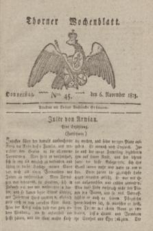 Thorner Wochenblatt. 1823, Nro. 45 (6 November)