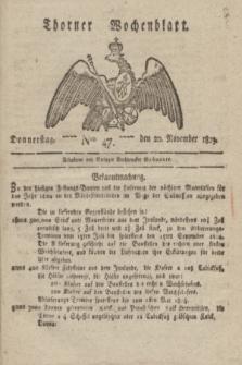 Thorner Wochenblatt. 1823, Nro. 47 (20 November)