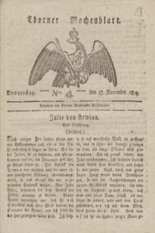 Thorner Wochenblatt. 1823, Nro. 48 (27 November)