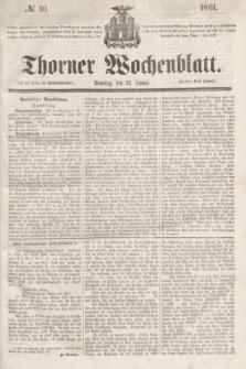 Thorner Wochenblatt. 1861, № 10 (22 Januar)