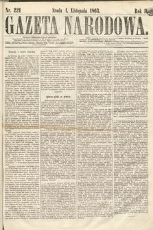 Gazeta Narodowa. 1863, nr221
