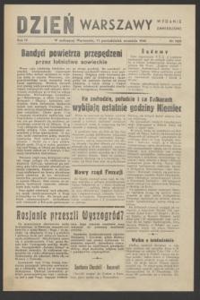 Dzień Warszawy : wydanie zmniejszone [Śródmieście-Południe]. R.4, nr 1059 (11 września 1944)