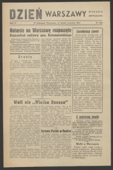 Dzień Warszawy : wydanie zmniejszone [Śródmieście-Południe]. R.4, nr 1060 (12 września 1944)