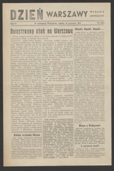 Dzień Warszawy : wydanie zmniejszone [Śródmieście-Południe]. R.4, nr 1063 (16 września 1944)
