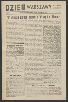Dzień Warszawy : wydanie zmniejszone [Śródmieście-Południe]. R.4, nr 1069 (22 września 1944)